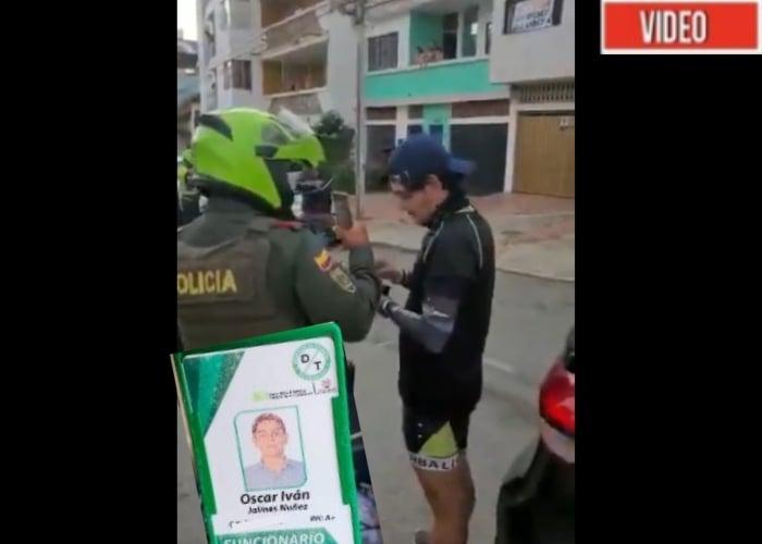 VIDEO: Funcionario de Tránsito de Bucaramanga accidentado por manejar borracho