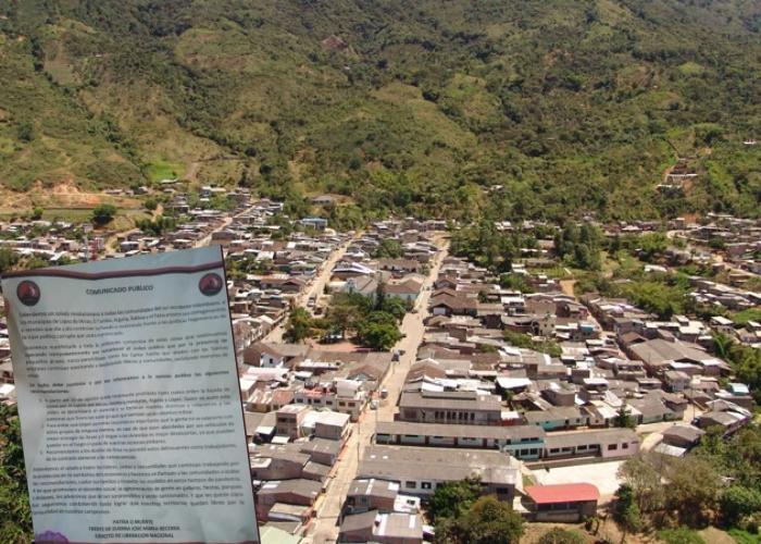 La amenaza del ELN a cuatro municipios del Cauca