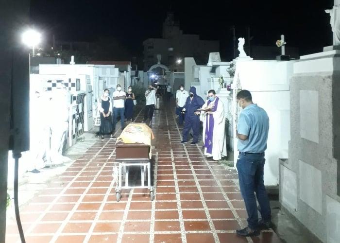 El solitario funeral de Mama Franca en Riohacha