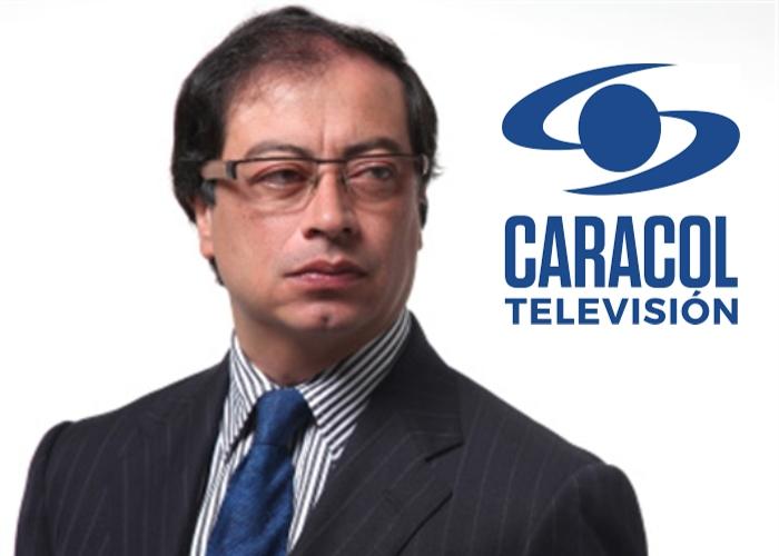 La rabia de Petro con Caracol Televisión