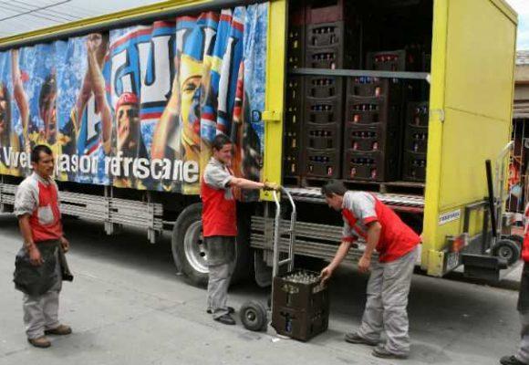 Tres hombres se roban una tractomula llena de cerveza en Bogotá...y se la bebieron
