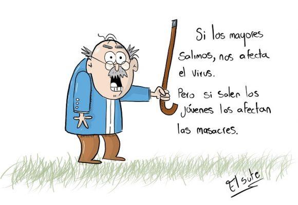 Caricatura: Cuarentena social