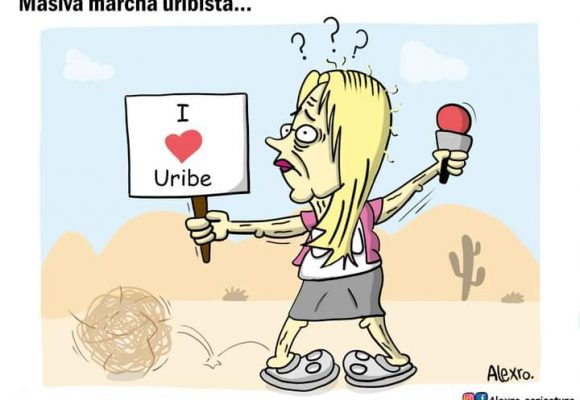 Caricatura: Masiva marcha uribista...