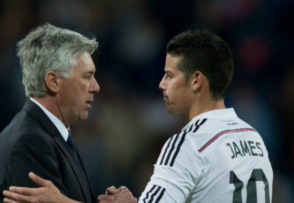 Ancelotti, el único técnico que le alcauhetea las pataletas a James