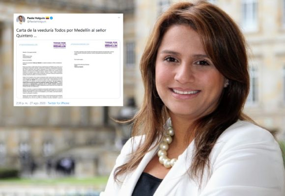 Paola Holguín también salió en defensa de la veeduría de Medellín