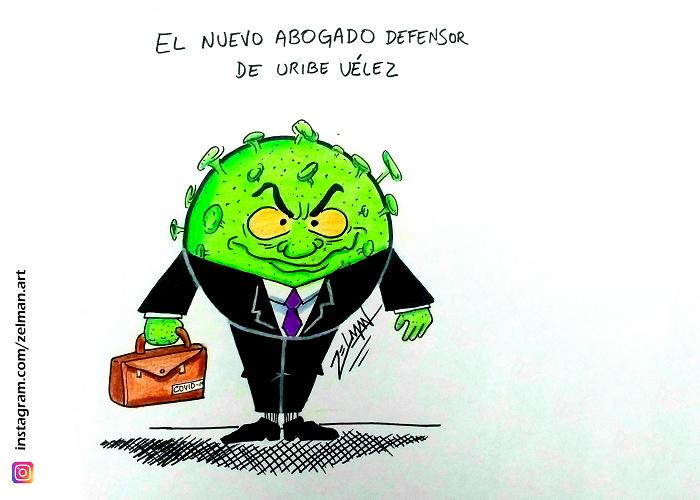 Caricatura: ¿El nuevo abogado de Uribe?