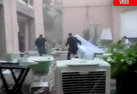 La impresionante explosión que casi mata del susto a novia a punto de casarse