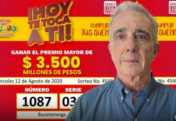 ¡Qué triste! Nadie se ganó la lotería con el número de preso de Uribe