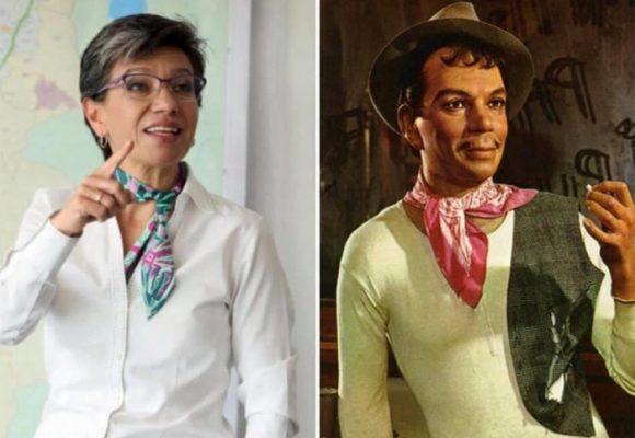 Se burlan de Claudia López comparándola con Cantinflas