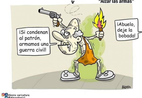 Caricatura: ¿Solo los abuelitos irían a la guerra por Uribe?