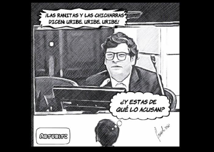 Caricatura: Senador Velasco, ¿seguro de que las ranas y las chicharras apoyan a Uribe?