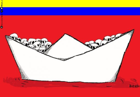 Caricatura: Masacre tras masacre