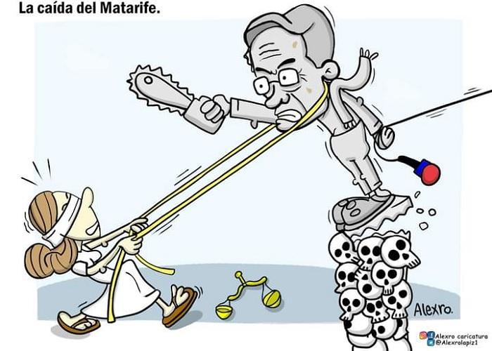 Caricatura: La caída del Matarife