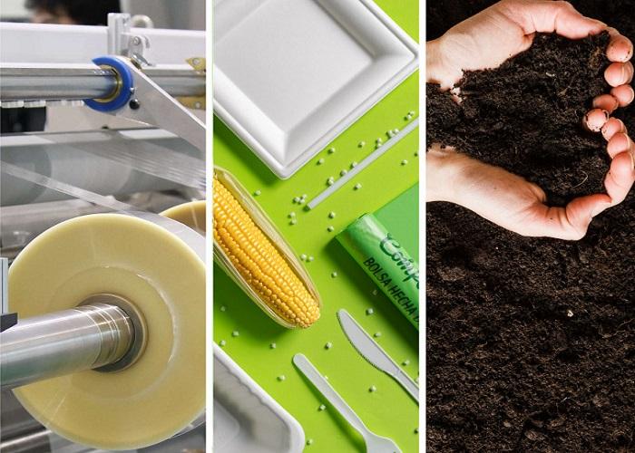 Materiales 100% compostables cambian el chip de la industria plástica