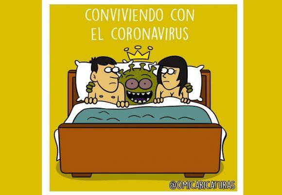 Caricatura: Conviviendo con el coronavirus