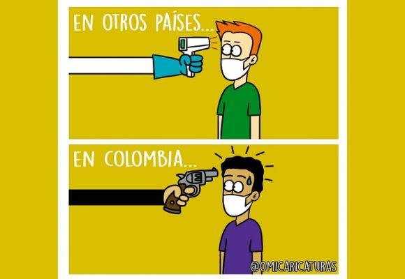 Caricatura: Otros países versus Colombia