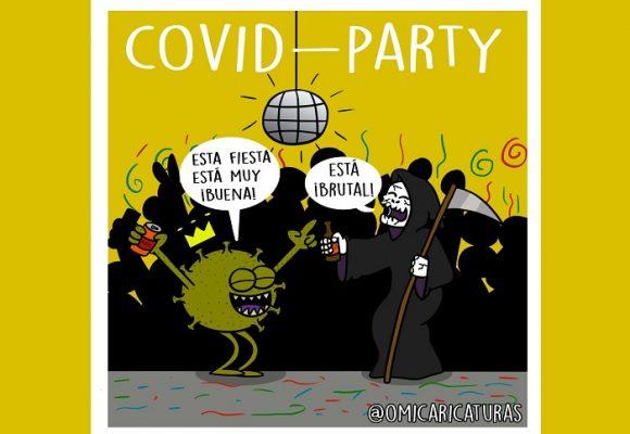 Caricatura: Siguen las fiestas COVID...
