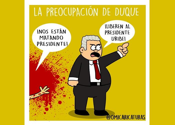 Caricatura: La preocupación de Duque