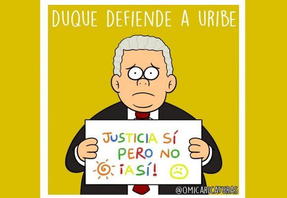 Caricatura: La defensa de Duque a su mentor