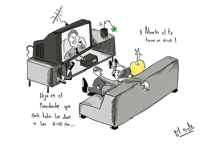 Caricatura: El virus de las seis