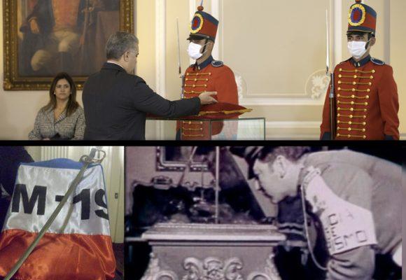 La espada de Bolivar de regreso al Palacio de Nariño