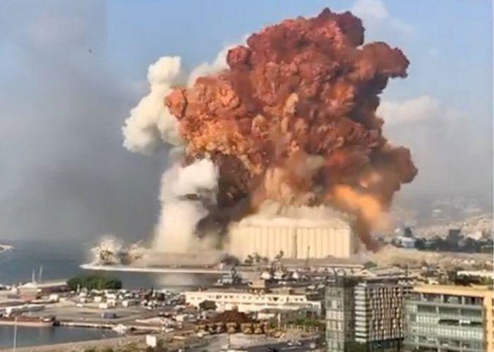 La impresionante explosión que devastó el centro de Beirut