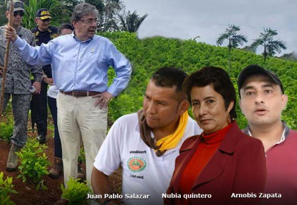 Tres líderes cocaleros encabezan la resistencia contra las fumigaciones