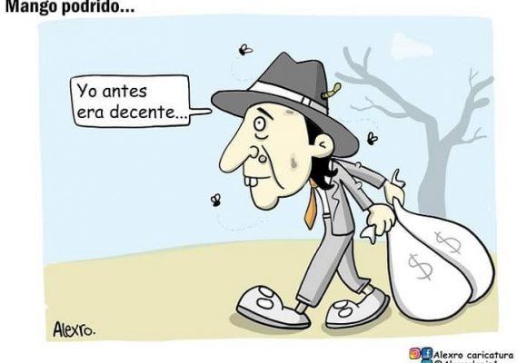 Caricatura: Mango podrido