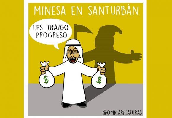 Caricatura: Minesa en Santurbán