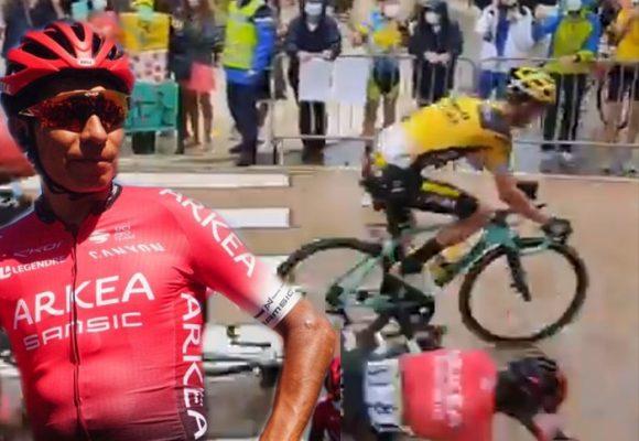 Mala suerte: Nairo se cae iniciando el Tour de Francia