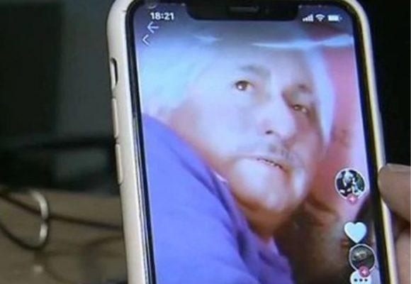 Una niña baila en un video para TikTok y atrás se ve a su abuelo abusando de su hermana
