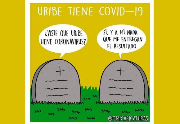 Caricatura: ¡Uribe tiene COVID-19!