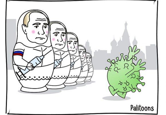 Caricatura: La vacuna rusa contra el COVID-19