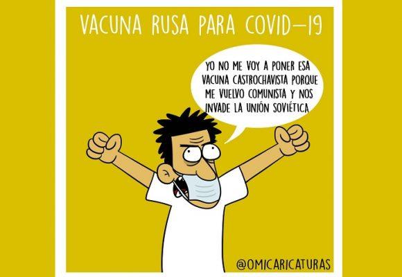 Caricatura: La vacuna rusa para el COVID-19