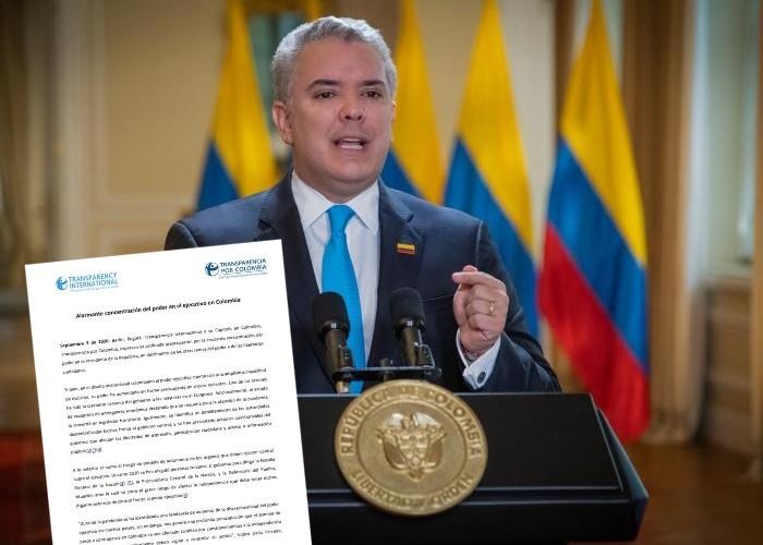 Transparencia Internacional arremete contra el gobierno Duque