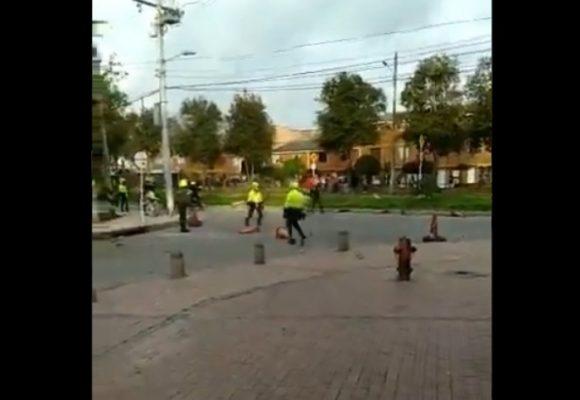 Otra vez la policía dispara contra la gente en Bogotá. VIDEO