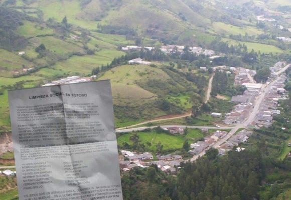 Nueva amenaza de muerte contra 16 lideres sociales en Totoró, Cauca