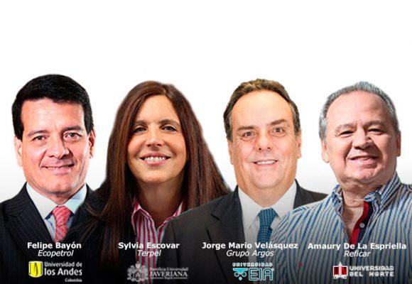 ¿Dónde han estudiado los presidentes de las principales compañías de Colombia?