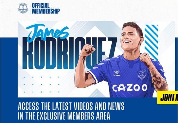 El Everton no cabe de la felicidad por James Rodriguez