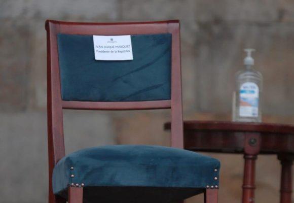 Presidente Duque, ¿se le está haciendo costumbre dejar sillas vacías?