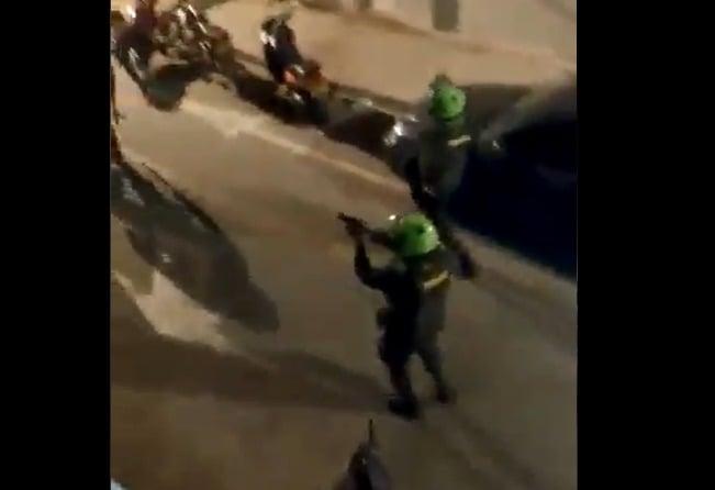 La policía volvió a disparar a matar en Cali