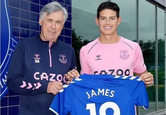 James llegó gratis al Everton