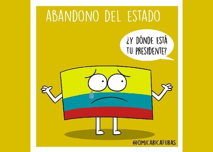 Caricatura: Abandono del Estado