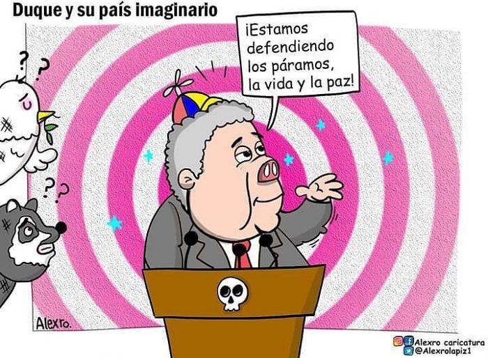Caricatura: Duque y su país imaginario