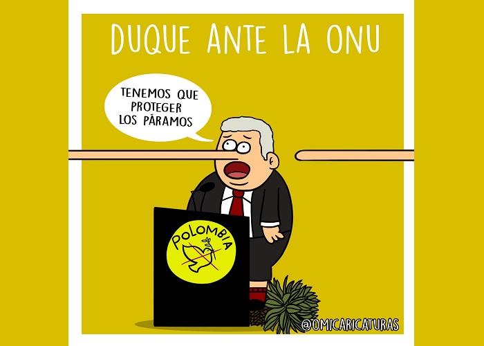 Caricatura: Duque ante la ONU