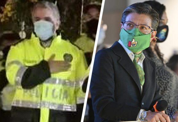 Mientras Duque se viste de Policía, Claudia López la denuncia internacionalmente
