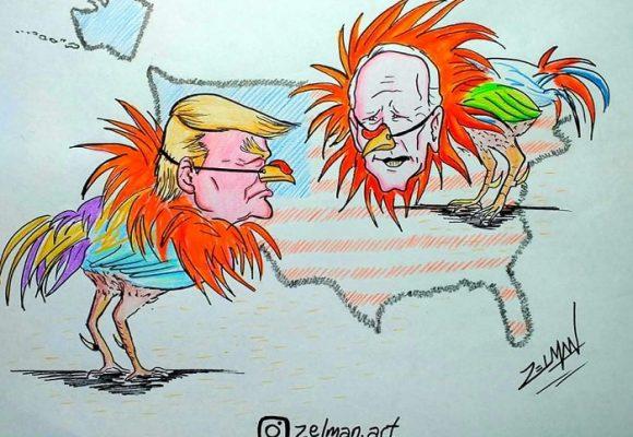 Caricatura: ¿Debate electoral o pelea de gallos?