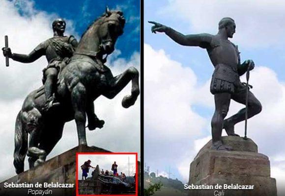 La valiosa estatua de Belalcázar que tumbaron, toda una obra de arte