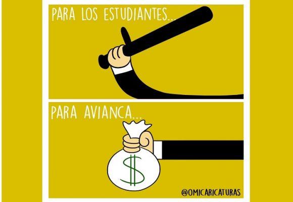 Caricatura: La doble cara del gobierno