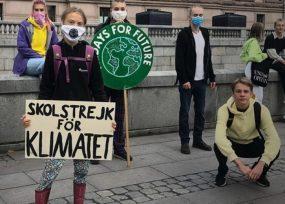 Reapareció Greta Thunberg, la ambientalista sueca